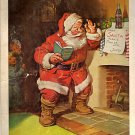Coca Cola Christmas Santa 1963 National Geographic advertisement Vintage Coke