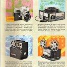 Kodak Retina Reflex Camera, Carousel Projector 1963 National Geographic advertisement Vintage