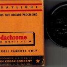 Kodachrome Eastman Kodak 8mm Film K459/K 459 Daylight For Roll Cameras 1959 Used 25 Ft Box has wear