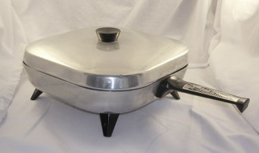 Mulby Therm-O-Ware Electric Skillet MU711 MU 711-NO Cord/Manual VTG Well used,dings,dents,scratches