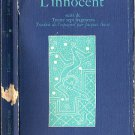L'innocent suivi de Trente sept fragments-Jose Angel Valente-French/France HB/1978 235 Pages