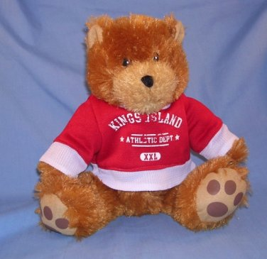 "Good Stuff 9"" Bear Kings Island Athletic Department Brown with Red White Shirt 2010 Free Shipping"
