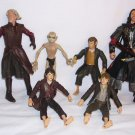 6 Lord Of The Rings Figures:Frodo-Samwise-Pippin Hobbit-Gollum Smeagol-King Theoden-Aragorn Strider
