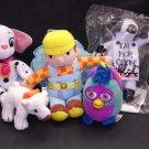 "5)Plush-Bob The Builder Bath Scrubber 6""~Dalmatian Oddball Dog 6½~Furby 3""~Cow 6~Bear 3 Free SH"