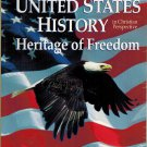 United States History Heritage Of Freedom In Christian Perspective 2nd  Ed 2000 Abeka A Beka