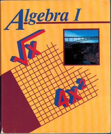 Algebra I Student Text Book 1996 Paperback Abeka A Beka