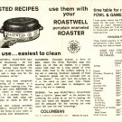 Roastwell Roaster Time-Tested Recipes Sheet nicest to use easiest to clean Vintage