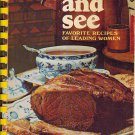 Taste And See Favorite Recipes Of Leading Women~Margaret Wise-Moody Cookbook-Nixon,Graham,Ford 1972