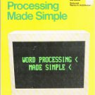 Word Processing Made Simple~Comprehensive Guide For Self-Study & Review Warner/Betty Hutchinson '84