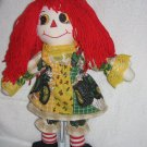"15"" Handmade Double Sided Raggedy Ann in John Deere Outfit"