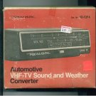 Automotive VHF-TV Sound & Weather Converter Realistic