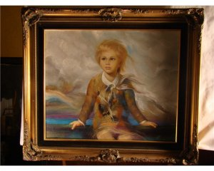 18th Century Portrait of Boy (Signed)