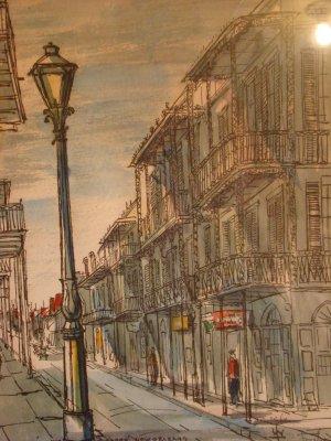 St. Peters' Street , Vieux Carre, New Orleans(Artist-Franz Weiss)