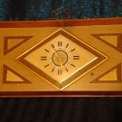 1920's ART DECO METRIC STYLE LIGHTED CLOCK (RARE)