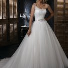 FW318 Hot Selling One-shoulder Ball Gown  Organza Wedding Dress