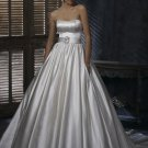 FW326 Promotional Sweetheart Ball Gown Satin Bridal Wedding Dress