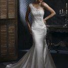 FW330 Hot Selling One-shoulder Mermaid Satin Wedding Gown