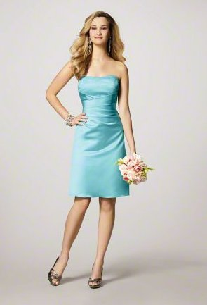 FB0001 Free Shipping Sweetheart A-line Knee-length Satin Bridesmaid Dress