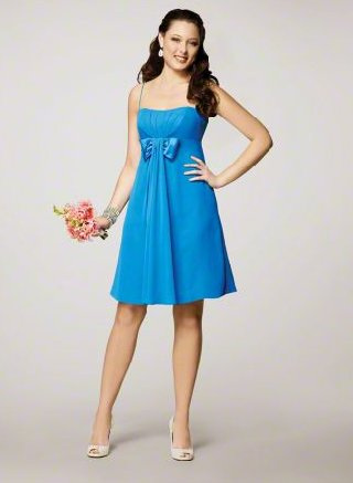 FB0005 Spaghetti Strap A-line Knee-lengh Chiffon Bridesmaid Dress