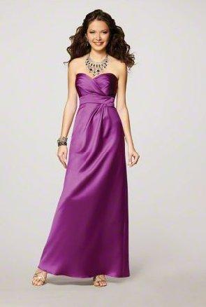 FB0009 Sweetheart A-line Floor-length Satin Bridesmaid Dress