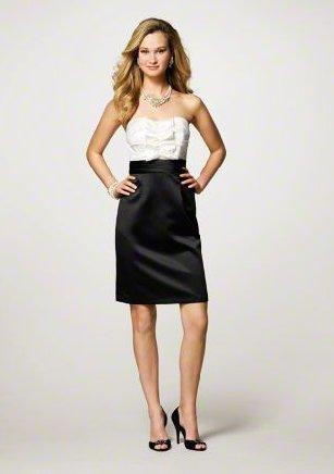 FB0012 Sweetheart A-line Knee-length Satin Bridesmaid Dress