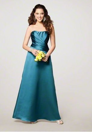 FB0015 Sweetheart A-line Floor-length Satin Bridesmaid Dress