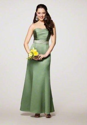 FB0018 Sweetheart A-line Floor-length Satin Bridesmaid Dress