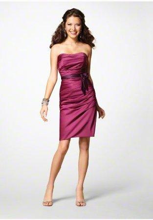 FB0021 Sweetheart A-line Knee-length Satin Bridesmaid Dress