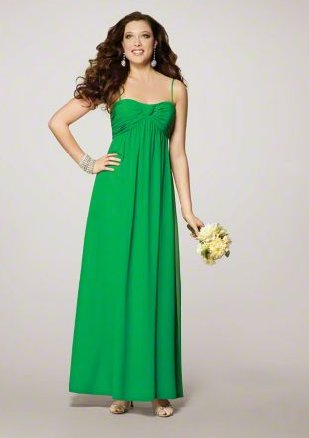 FB0023 Spaghetti Strap A-line Floor-lengh Chiffon Bridesmaid Dress