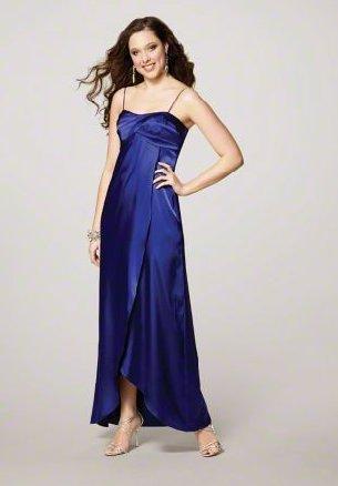 FB0025 Spaghetti Strap A-line Floor-length Satin Bridesmaid Dress