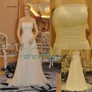 Simple design beach style wedding dress