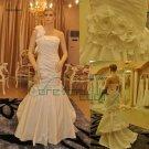 mermaid taffeta bridal gown