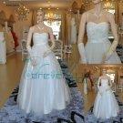 sweetheart organza bridal wedding gown