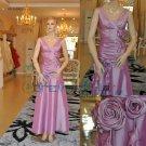 V-neck Taffeta Floor Length Mermaid Evening Dresses