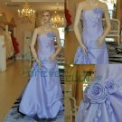 Custom Made Strapless A-line Taffeta Formal Evening Gowns