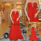 Sweetheart A-line Red Chiffon Evening Wear