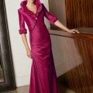V0100 Free Shipping  Floor-length Taffeta Mother Dresses with Jacket
