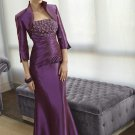 V0109 Discount Two-pieces Mermaid Purple Mother of the Bridals Dresses