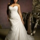 V0125 New Style Sweetheart Removlable Cap Sleeves Plus Size Wedding Dresses