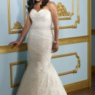V0130 Best Price Sweetheart Mermaid Lace Plus Size Bridal Dresses