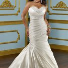 V0135 High Quality Sweetheart  SatinCourt Train Plus Size  Mermaid  Wedding Dresses