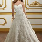 V0138 New Style A-line Sweetheart Court Train Lace Wedding Dresses 2012