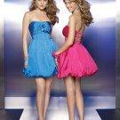V0161 Sexy Sweetheart Taffeta Blackless Homecoming Dresses