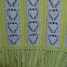 Pineapple Heart Yellow and White Baby Afghan