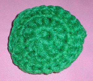Green Crocheted Scrubbies Scrubber