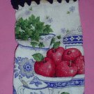 Crocheted Hanging Buttonless Specialty Dishtowel Apples