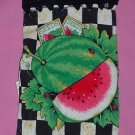 Crocheted Hanging Buttonless Dishtowel Watermelon