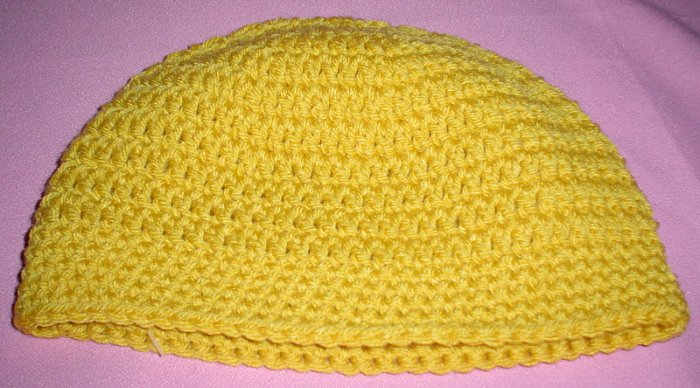 Mens Beanie Hat Gold