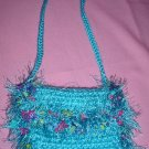 Coin Purse Teal with fur