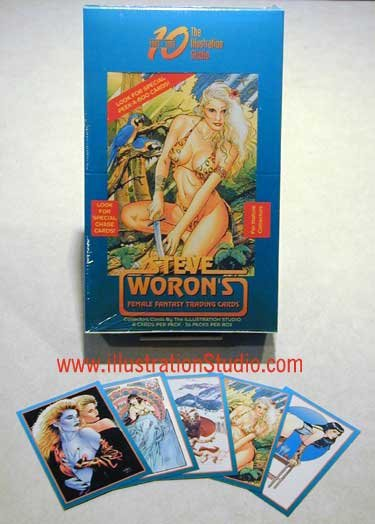 Steve Woron's Female Fantasy Trading Cards